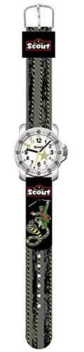 Scout Jungen-Armbanduhr Analog Quarz Textil 280376001