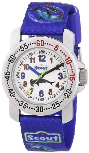 Scout Jungen-Armbanduhr Analog Quarz Textil 280376028