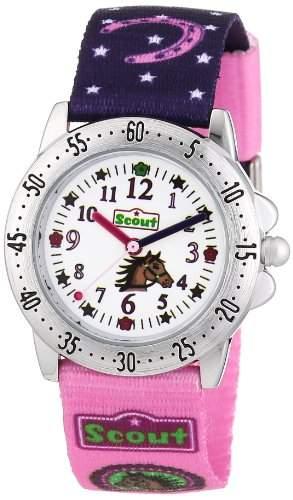 Scout Maedchen-Armbanduhr Analog Quarz Textil 280378065