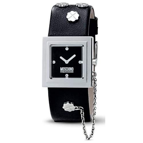 MOSCHINO-Damen-Armbanduhr ITS LUCKY TIME 2H SS BLACK STRAP MW0082