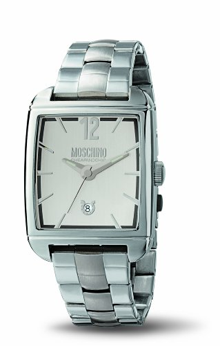 MOSCHINO WATCH TIME FOR GENTLEMAN 3H MAN BRC SILVER DIAL MW0107
