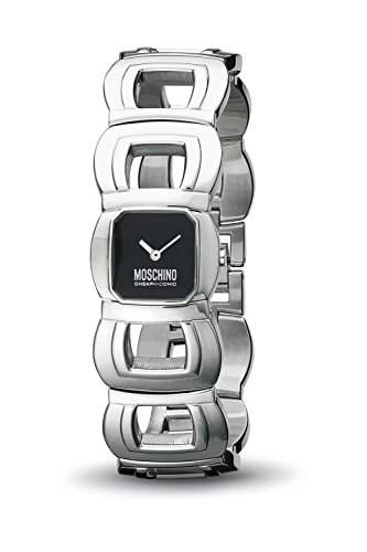 MOSCHINO WATCH LETS BE PRECIOUS 2H LADY SS BRC BLACK DIA MW0092
