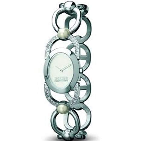 MOSCHINO WATCH DIVINE 2H LADY BRC SS SILVER DIAL WHIT STO MW0095
