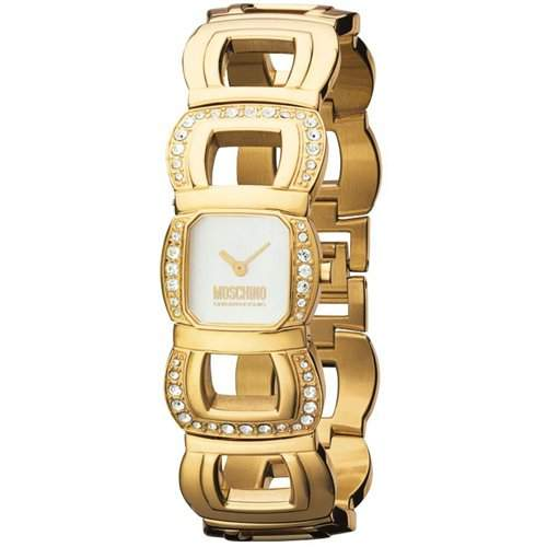 MOSCHINO-Damen-Armbanduhr LETS BE PRECIOUS 2H IPG WITH STONES MW0117