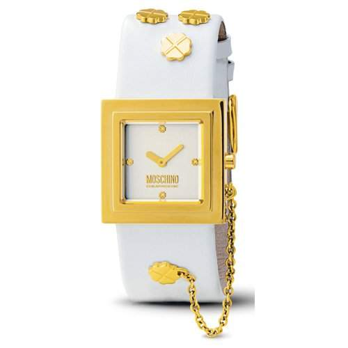 MOSCHINO-Damen-Armbanduhr ITS LUCKY TIME 2H IPG SILVER DIAL WH MW0083