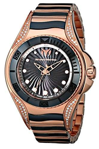 Technomarine TechnoMarine Damen-Armbanduhr 38mm Armband Edelstahl + Gehaeuse Schweizer Quarz Analog 214004