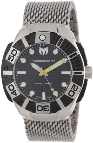 Technomarine Black Reef Stainless Steel & Black PVD Coated Mens Mesh Watch Black Dial 513004