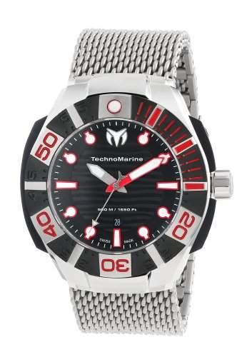 Technomarine Black Reef Stainless Steel & Black PVD Coated Mens Mesh Watch Black Dial 513005
