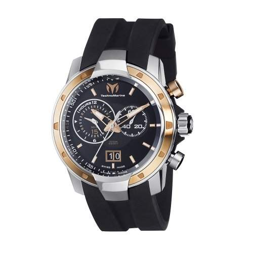 Technomarine UF6 Grande Date Chronograph Stainless Steel & Rose Gold Plated Mens Watch 611003