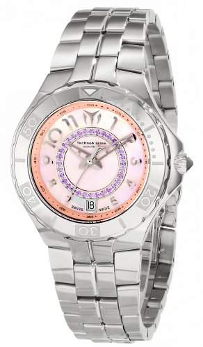 Technomarine Damen-Armbanduhr 34mm Armband Edelstahl + Gehaeuse Synthetisches Saphir Schweizer Quarz 713011