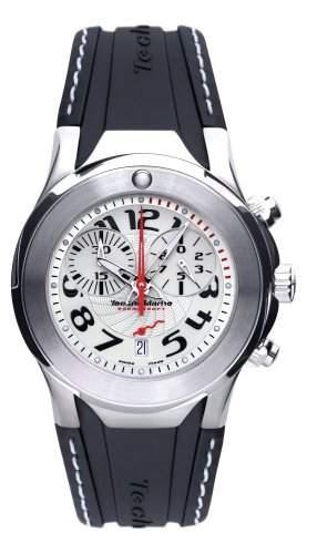 Technomarine Herren Chronograph Schwarz Kautschuk Armband Saphirglas Uhr TMM05