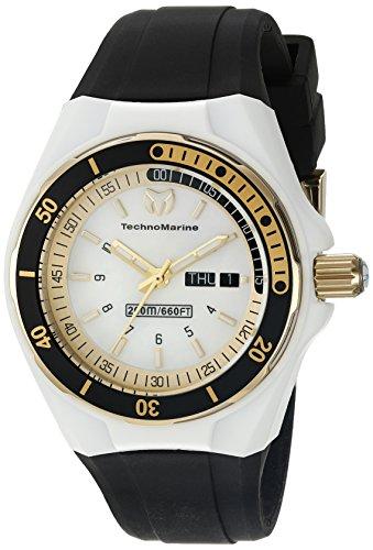 TechnoMarine TechnoMarine Armband Silikon Gehaeuse Edelstahl Schweizer Quarz Analog 115118