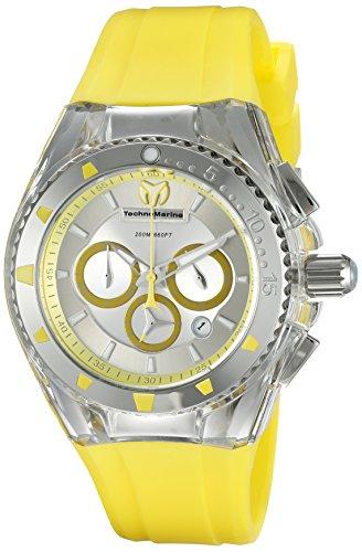 TechnoMarine TechnoMarine Armband Silikon Gelb Gehaeuse Edelstahl Quarz Analog 115169