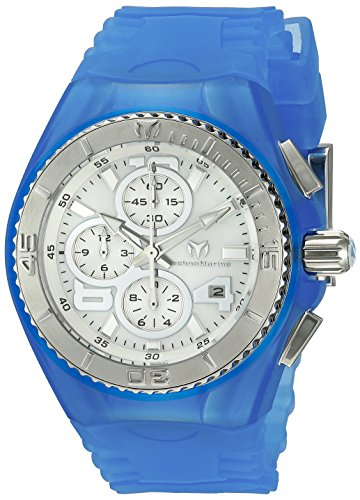 TechnoMarine TechnoMarine Armband Silikon Blau Gehaeuse Edelstahl Quarz Analog 115262