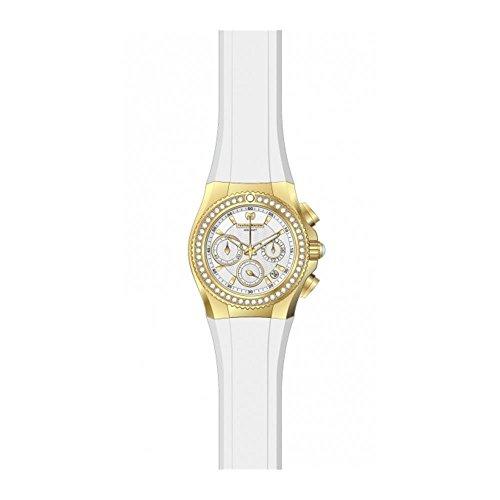 TechnoMarine Cruise Diamant 34mm Armband Silikon Gehaeuse Edelstahl Batterie TM 115233