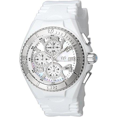 TechnoMarine Cruise Diamant 40mm Armband Silikon Gehaeuse Edelstahl Batterie TM 115271
