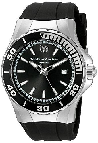 TechnoMarine TechnoMarine Armband Silikon Gehaeuse Edelstahl Schweizer Quarz 215054