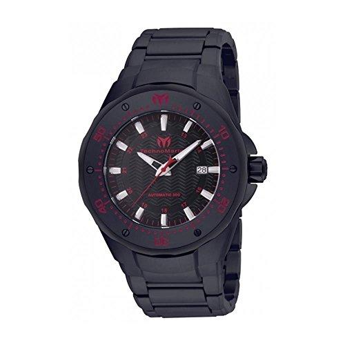 TechnoMarine Manta 48mm Armband Edelstahl Schwarz Gehaeuse Automatik Analog TM 215097