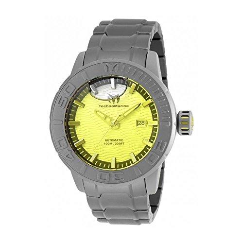 TechnoMarine Reef 48mm Armband Titan Grau Gehaeuse Automatik Analog TM 516001