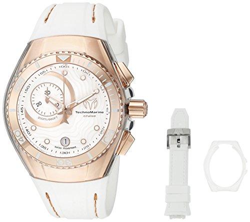 TechnoMarine Damen tm 114040 Cruise Analog Display Swiss Quarz weiss Armbanduhr