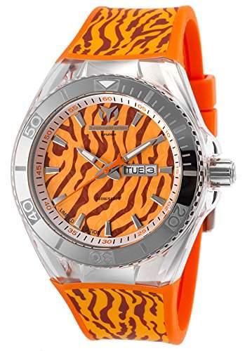 Technomarine Cruise Herren-Armbanduhr 45mm Armband Silikon Marine Gehaeuse Edelstahl Quarz Datum TM-114011