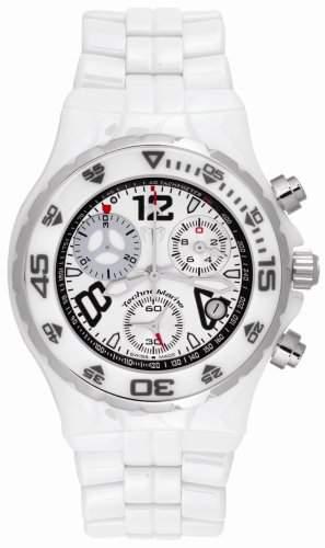 Technomarine Moonsun Damen 43mm Chronograph Weiss Keramik Armband Uhr TMYC05C