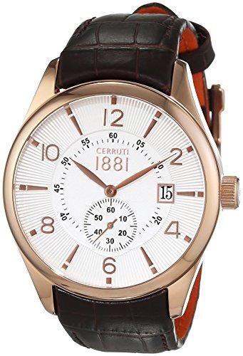 Cerruti 1881 Herren Armbanduhr LIPARI Analog Quarz Leder CRA098C213D