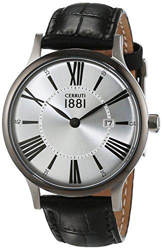 Cerruti 1881 Herren Armbanduhr SIENA Analog Quarz Leder CRA099W212C