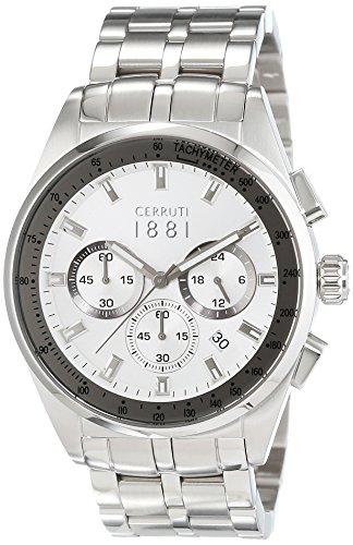 Cerruti 1881 Herren Armbanduhr XL VELIERO Analog Quarz Edelstahl CRA089A211G