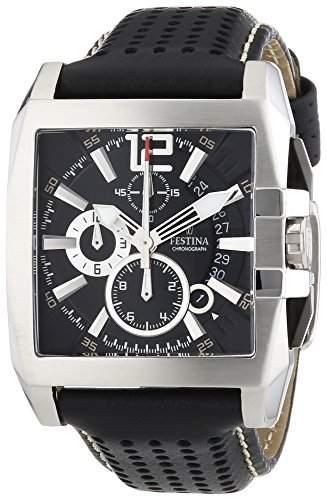 Festina Herren-Armbanduhr XL Sport Chronograph Chronograph Leder F163635
