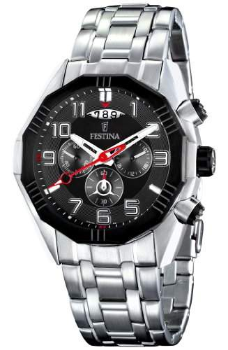 Festina Herren-Armbanduhr XL Chronograph Quarz Edelstahl F163836