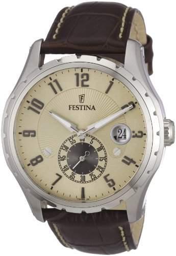 Festina Herren-Armbanduhr Analog Quarz Leder F16486-2