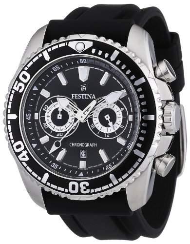 Festina Herren-Armbanduhr XL Il Giro Chronograph Kautschuk F165744