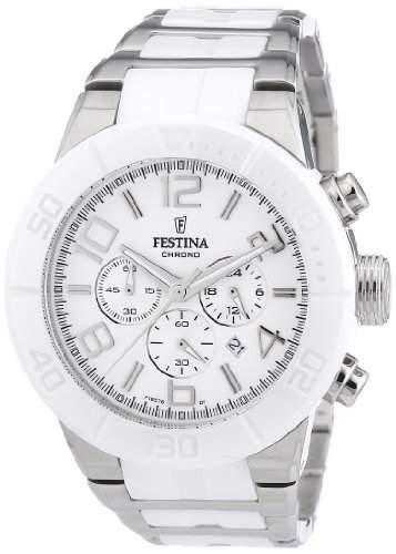 Festina Damen-Armbanduhr XL Trend Ceramic Lady Chronograph Edelstahl F165761