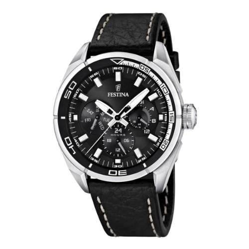 Festina Herren-Armbanduhr Analog Quarz Leder F16609-4