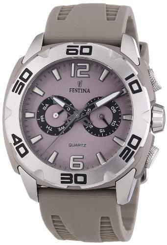 Festina Herren-Armbanduhr XL Chronograph Quarz Silikon F166652