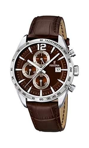 Festina Herren-Armbanduhr Analog Quarz Leder F16760-2