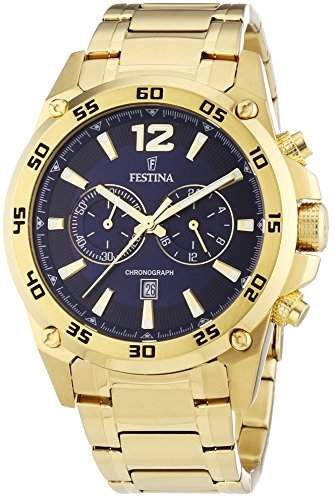 Festina Herren-Armbanduhr XL Chronograph Quarz verschiedene Materialien F168062