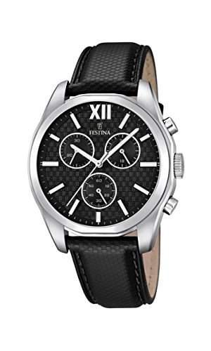 Festina Herren-Armbanduhr Chronograph Quarz Leder F168601
