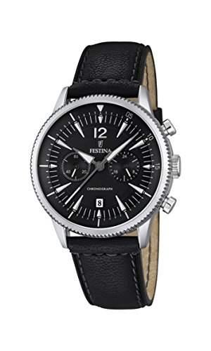 Festina Herren-Armbanduhr Chronograph Quarz Leder F168704