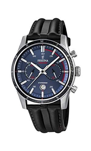 Festina Herren-Armbanduhr Chronograph Quarz Leder F168742
