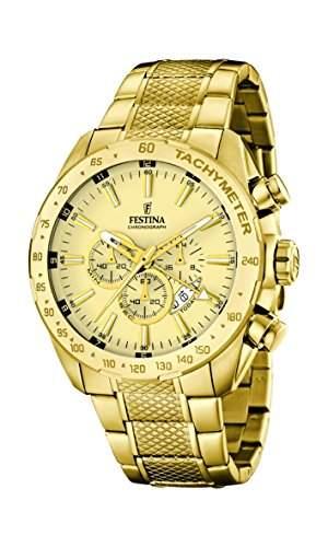 Festina Herren-Armbanduhr Chronograph Quarz Edelstahl F168782
