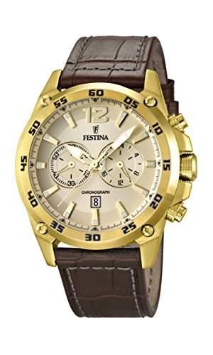 Festina Herren-Armbanduhr Chronograph Quarz Leder F168801