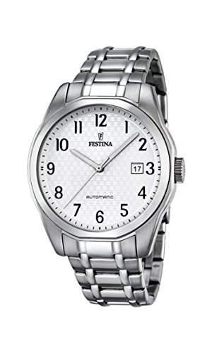 Festina Herren-Armbanduhr Retrograde Analog Automatik Edelstahl F168841