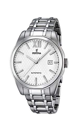 Festina Herren-Armbanduhr Retrograde Analog Automatik Edelstahl F168842
