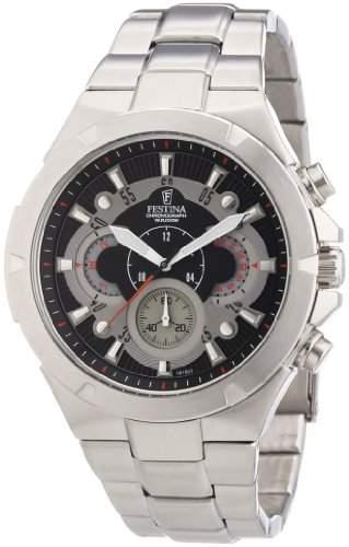 Festina Herren-Armbanduhr XL Sport Chronograph Quarz Edelstahl F68151