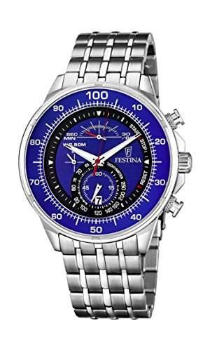 Festina Herren-Armbanduhr XL Chronograph Quarz Edelstahl F68303