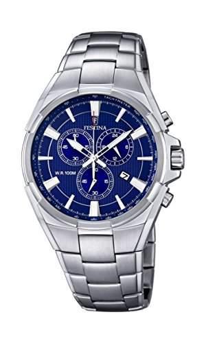 Festina Herren-Armbanduhr Chronograph Quarz Edelstahl F68343
