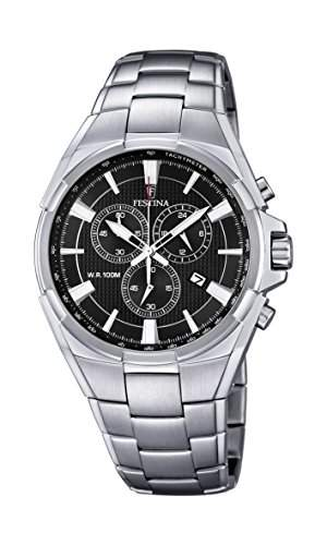 Festina Herren-Armbanduhr Chronograph Quarz Edelstahl F68344