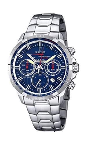 Festina Herren-Armbanduhr Chronograph Quarz Edelstahl F68363
